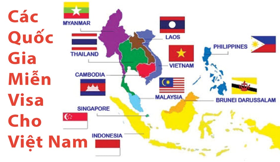 các nước miễn visa